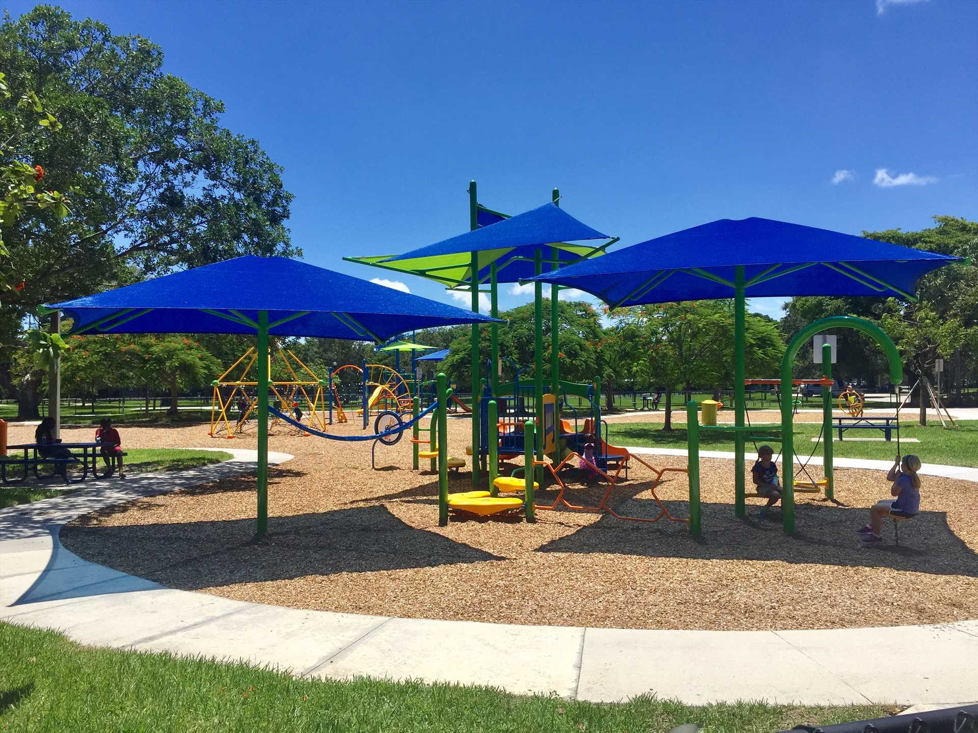 Kids will love the playground at the Community Park,