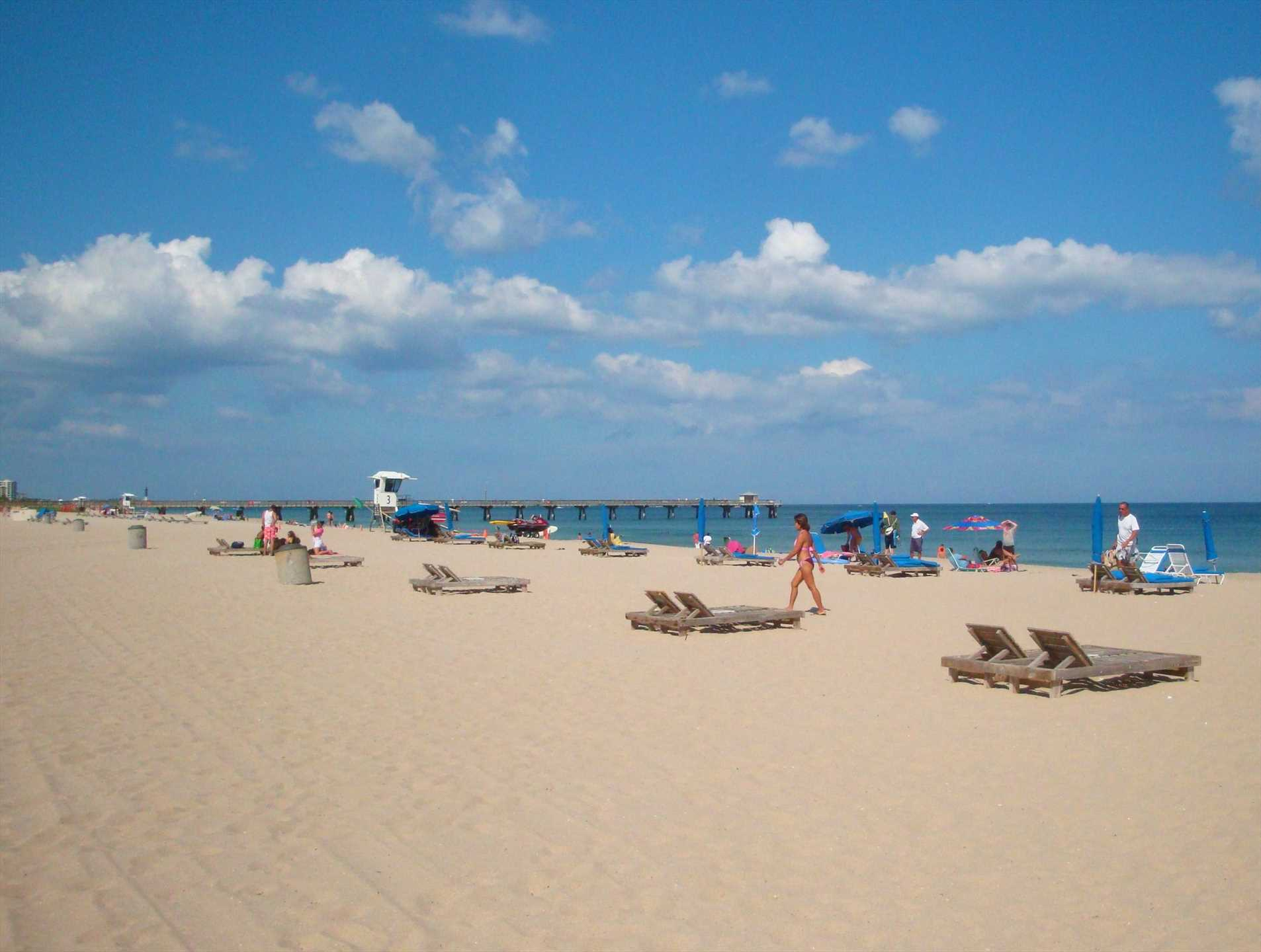 Stroll down the Pompano Beach fishing pier or enjoy the sand