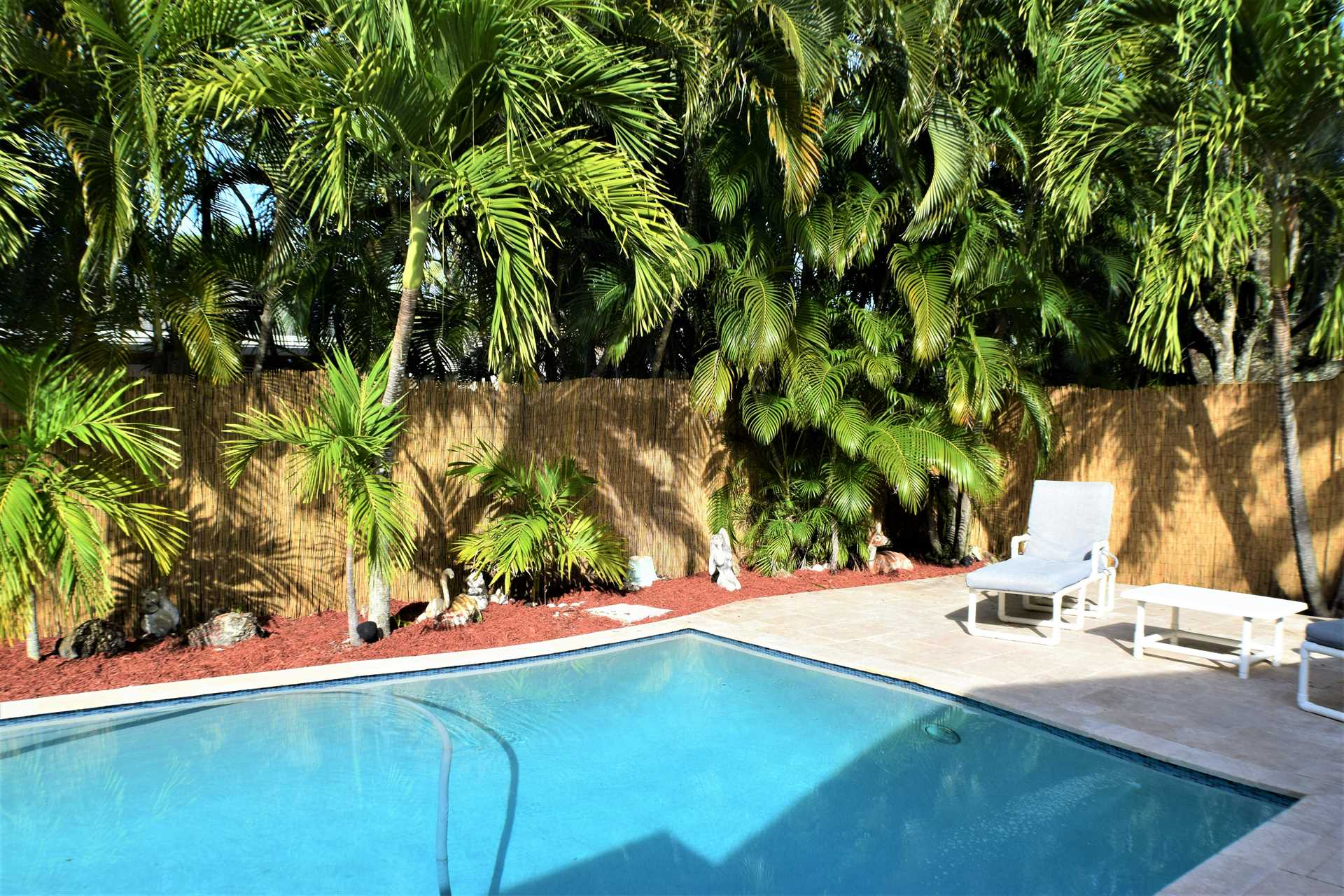 Heated pool (optionally) is ready for family fun.
