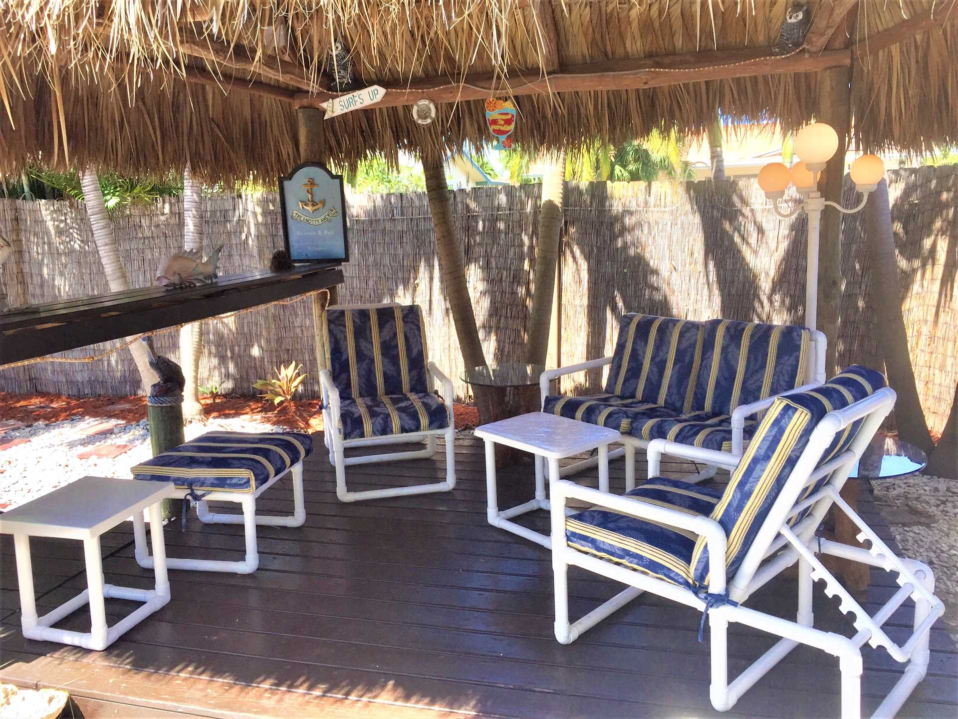 Relax in the Tiki Hut with your favorite adult beverage - It