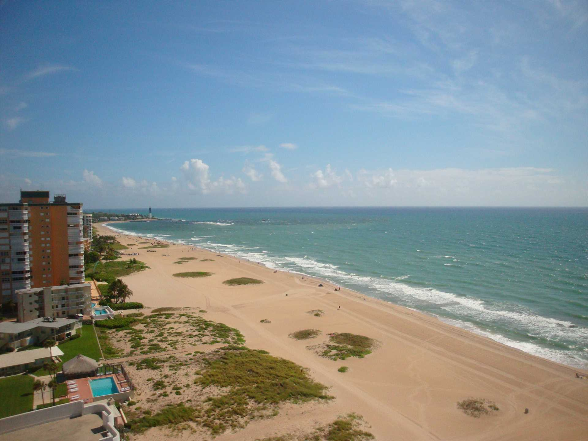 The warm Atlantic breezes, sand and surf await your arrival.