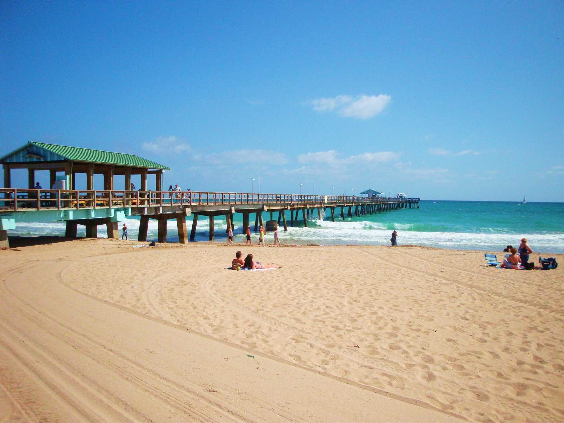 Stroll down the Anglin's fishing pier or wet a line.
