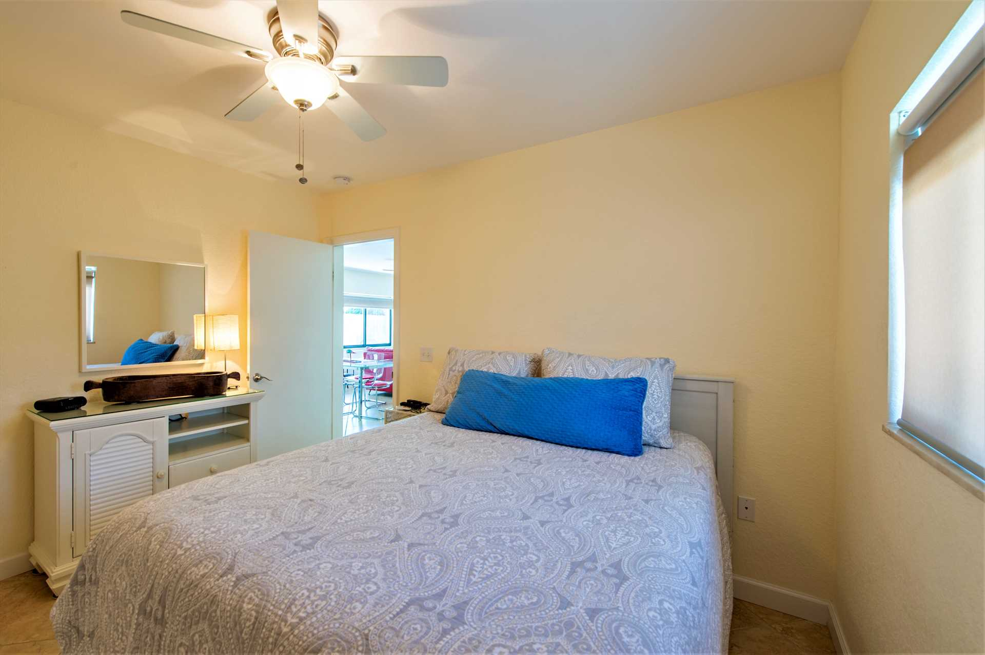Second bedroom has large closet and both bedrooms have ceili