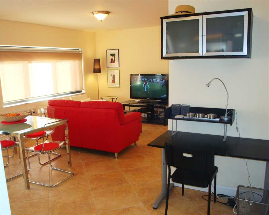 Villa has new furnishings and work station for your laptop.