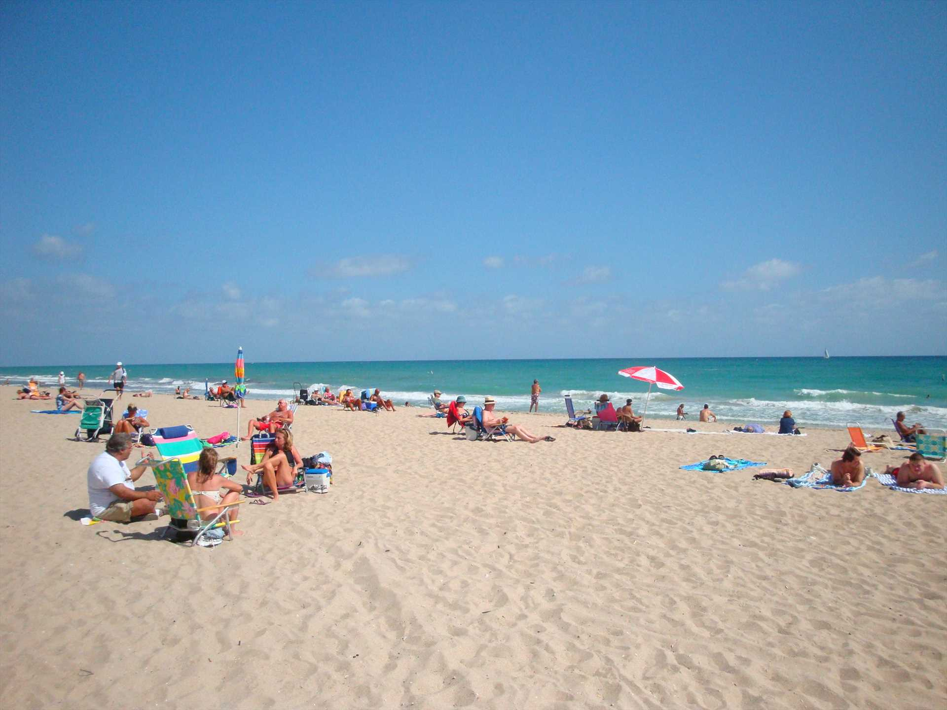 The wide uncrowded beach is one of South Florida's best.
