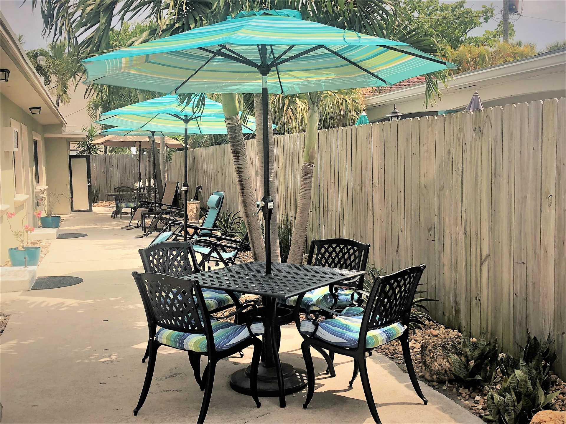 Dine at one of the patio tables and experience the South Flo