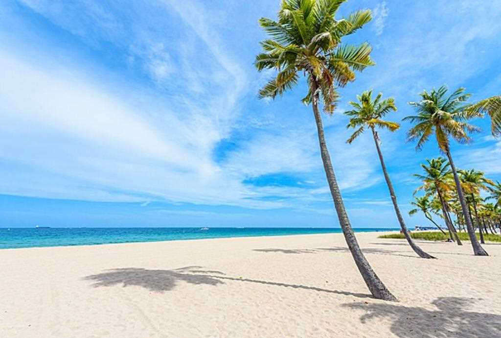 The uncrowded white sand beach is just a five minute walk.