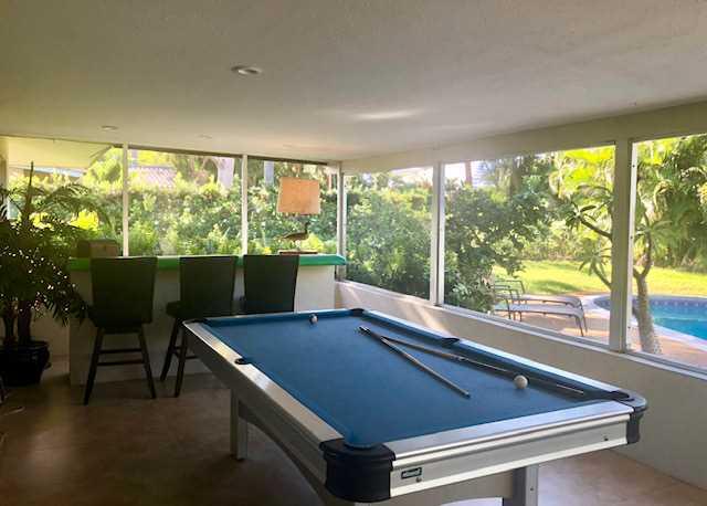 Lanai also has regulation size pool table.