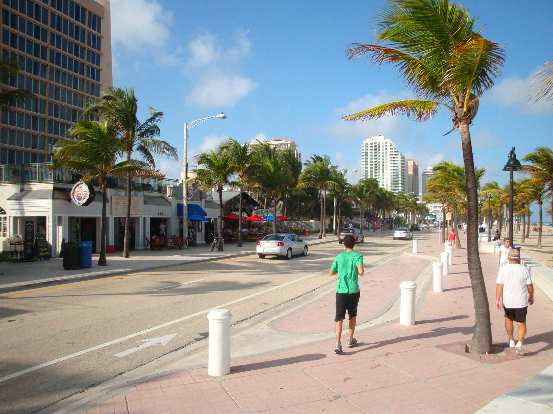 Take a walk along A-1-A and Fort Lauderdale beach.