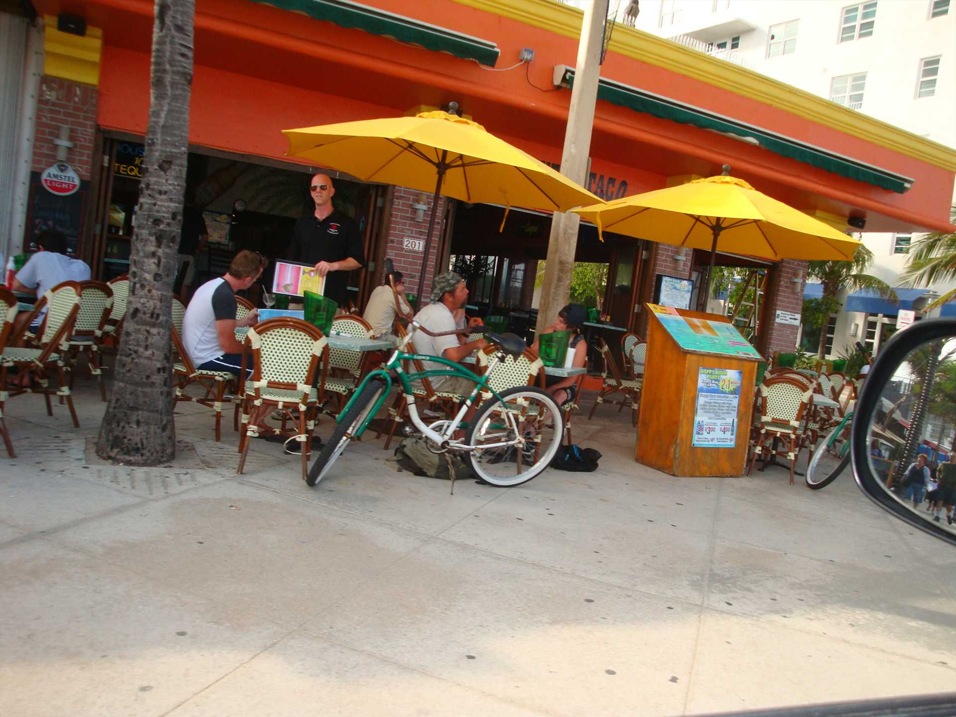 Stop at one of the many sidewalk restaurants for some great
