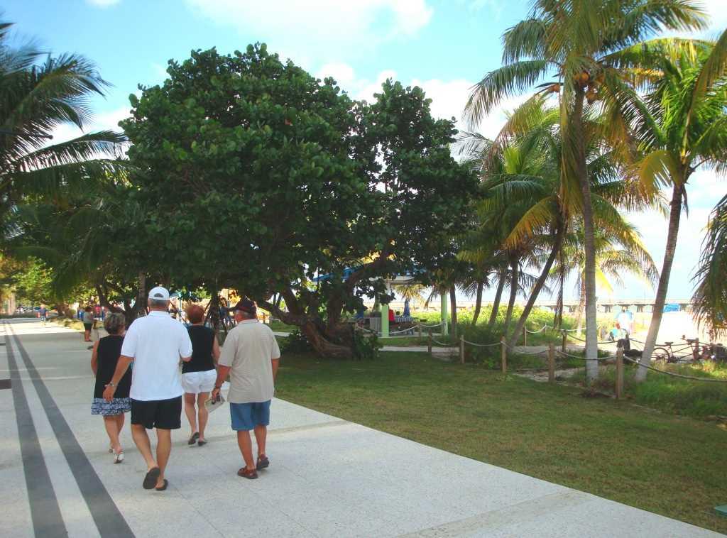 Enjoy a stroll down the new broadwalk along the beach.