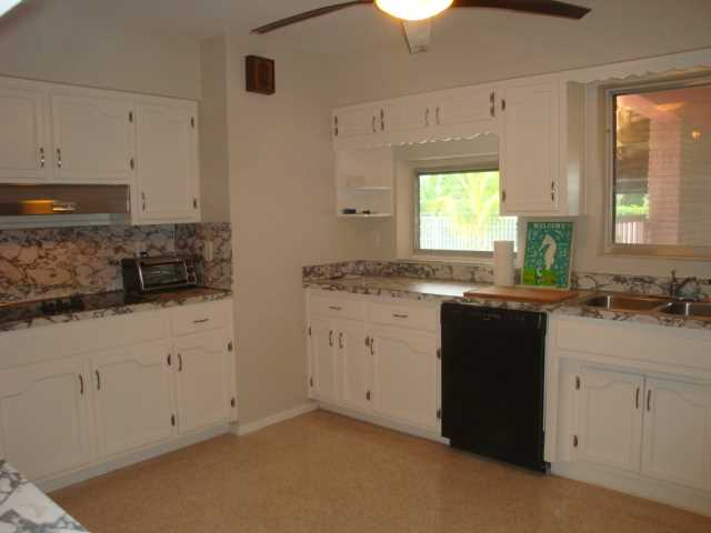 Large kitchen is perfect for preparing a light snack or larg