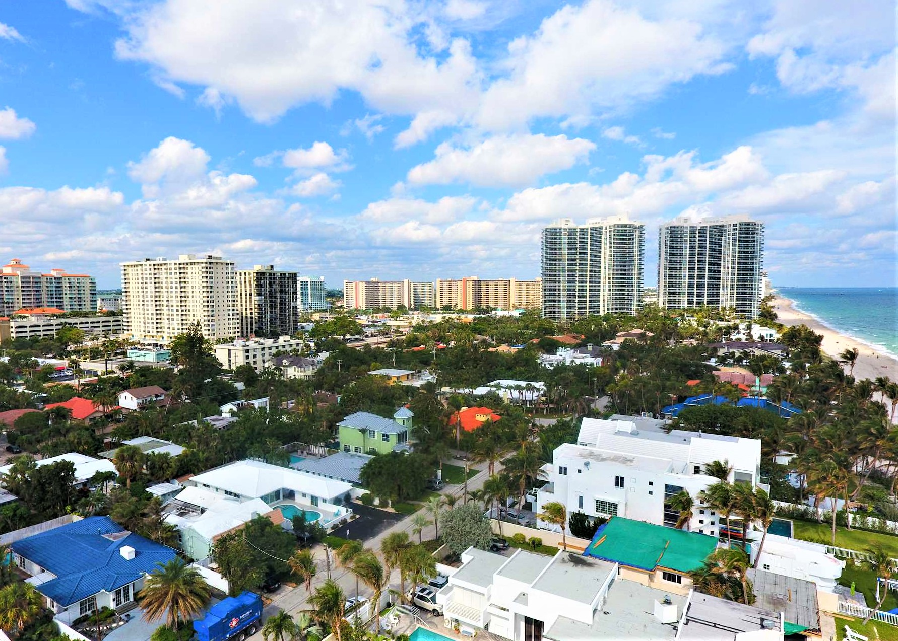 The home is located close to all the action of Fort Lauderda