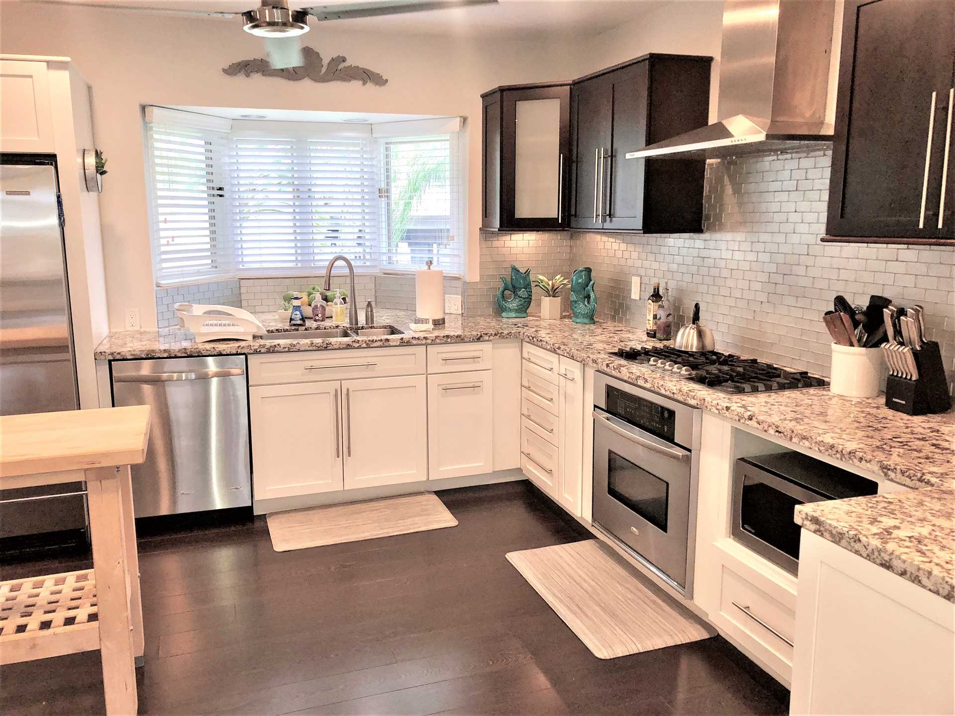 All stainless appliances and a natural gas stove top/oven ma