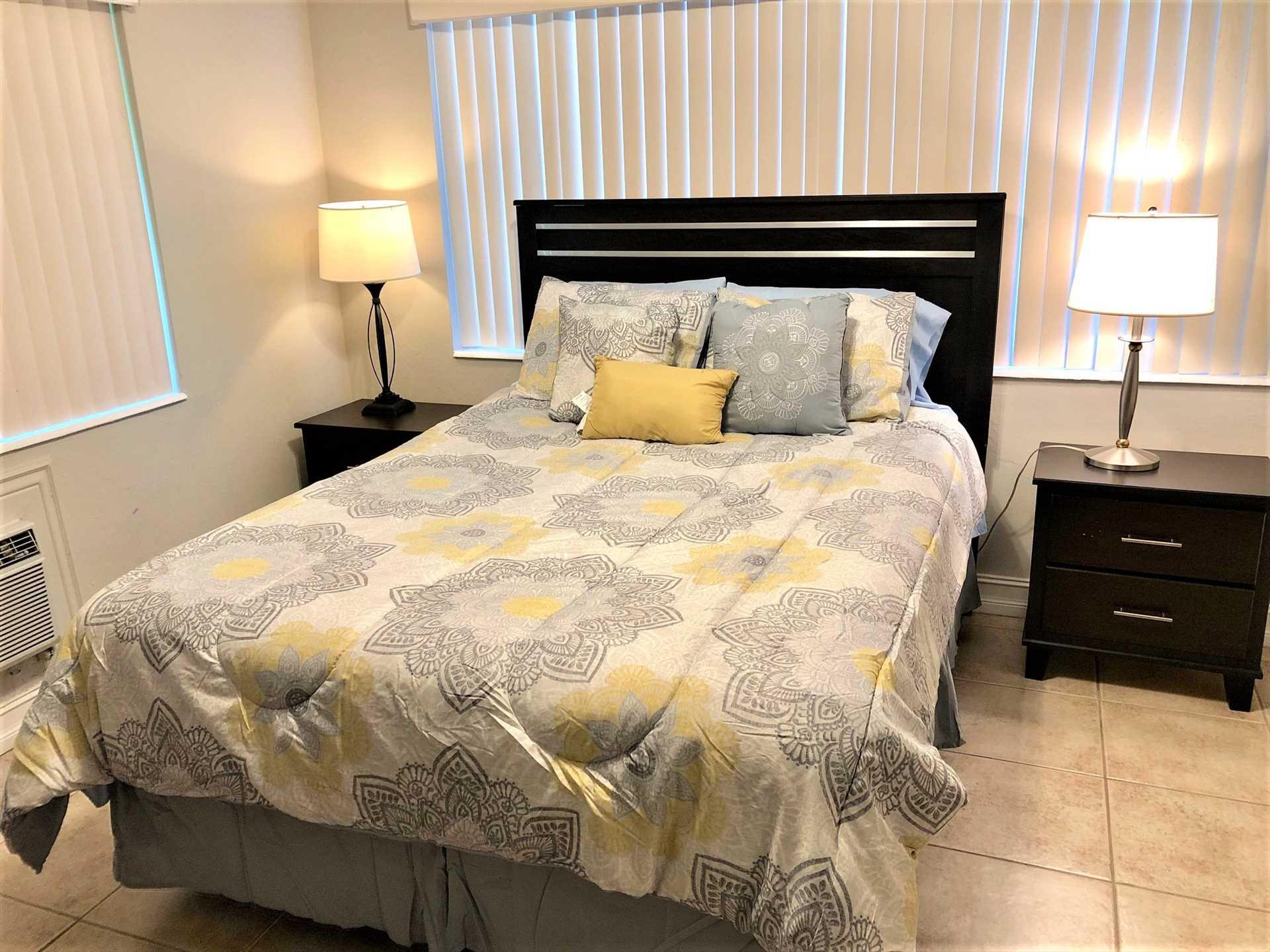 Second bedroom has comfortable queen. .