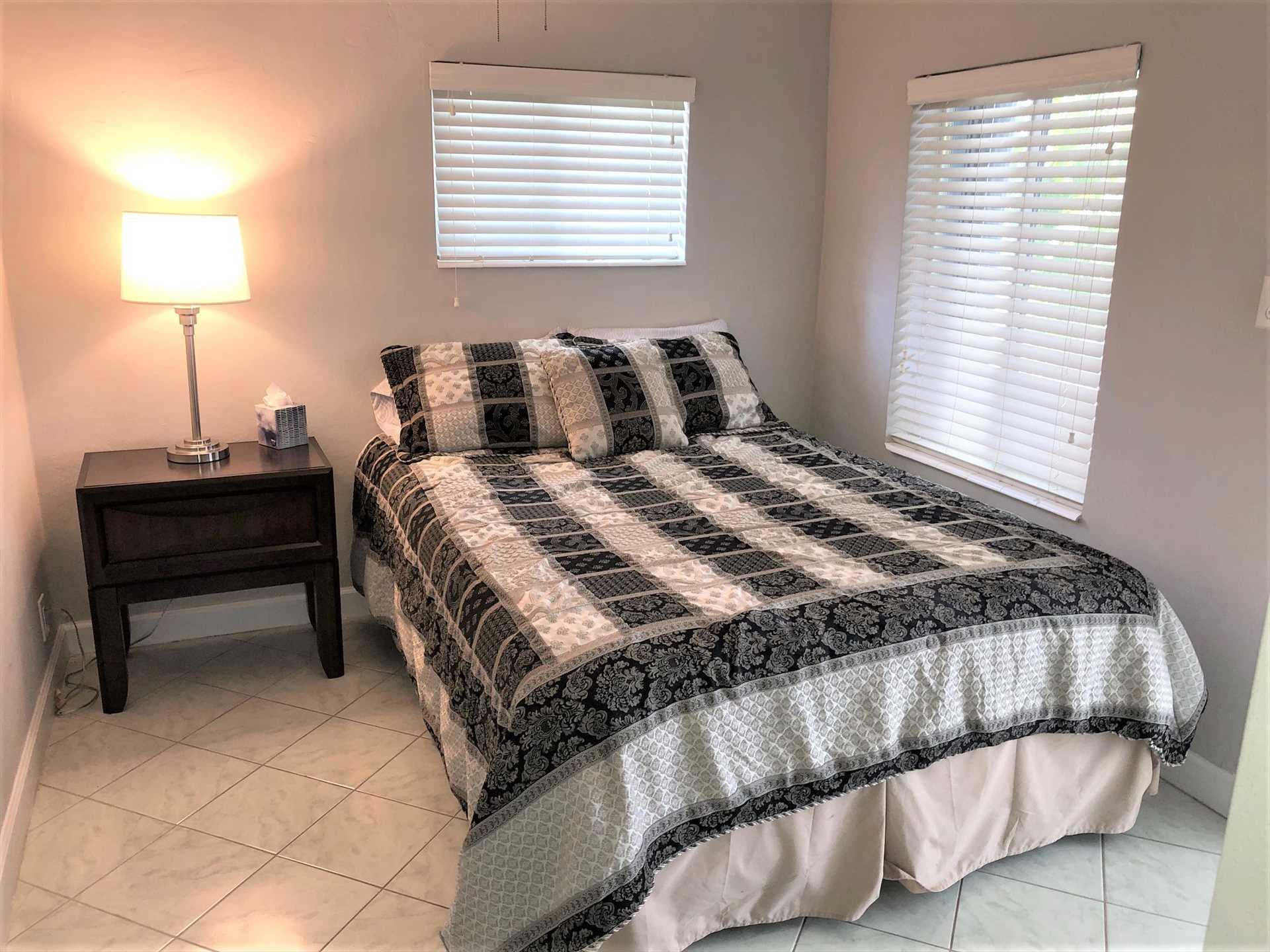 Third bedroom has queen bed and ensuite bath.