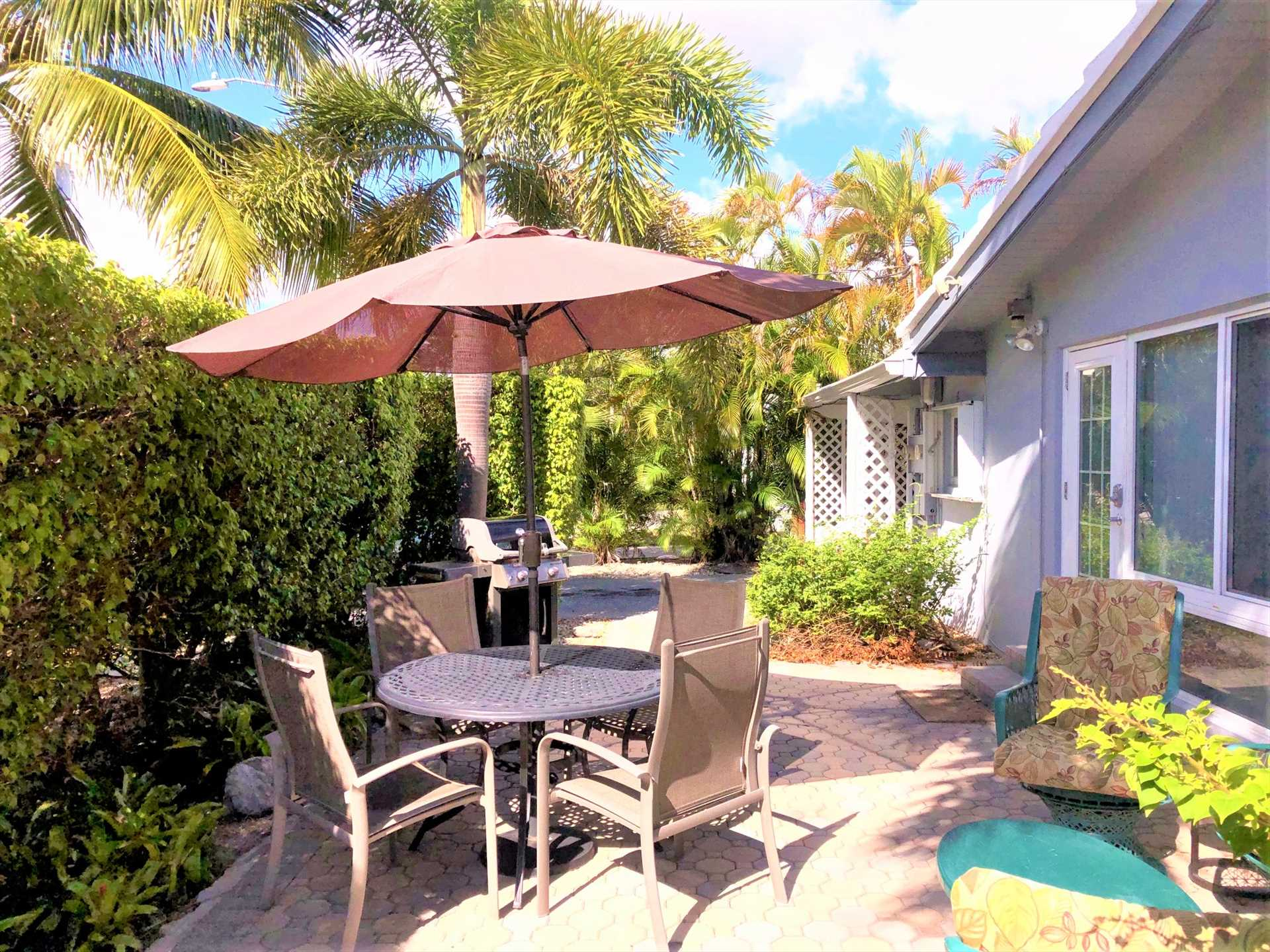 Dine on the patio South Florida style!