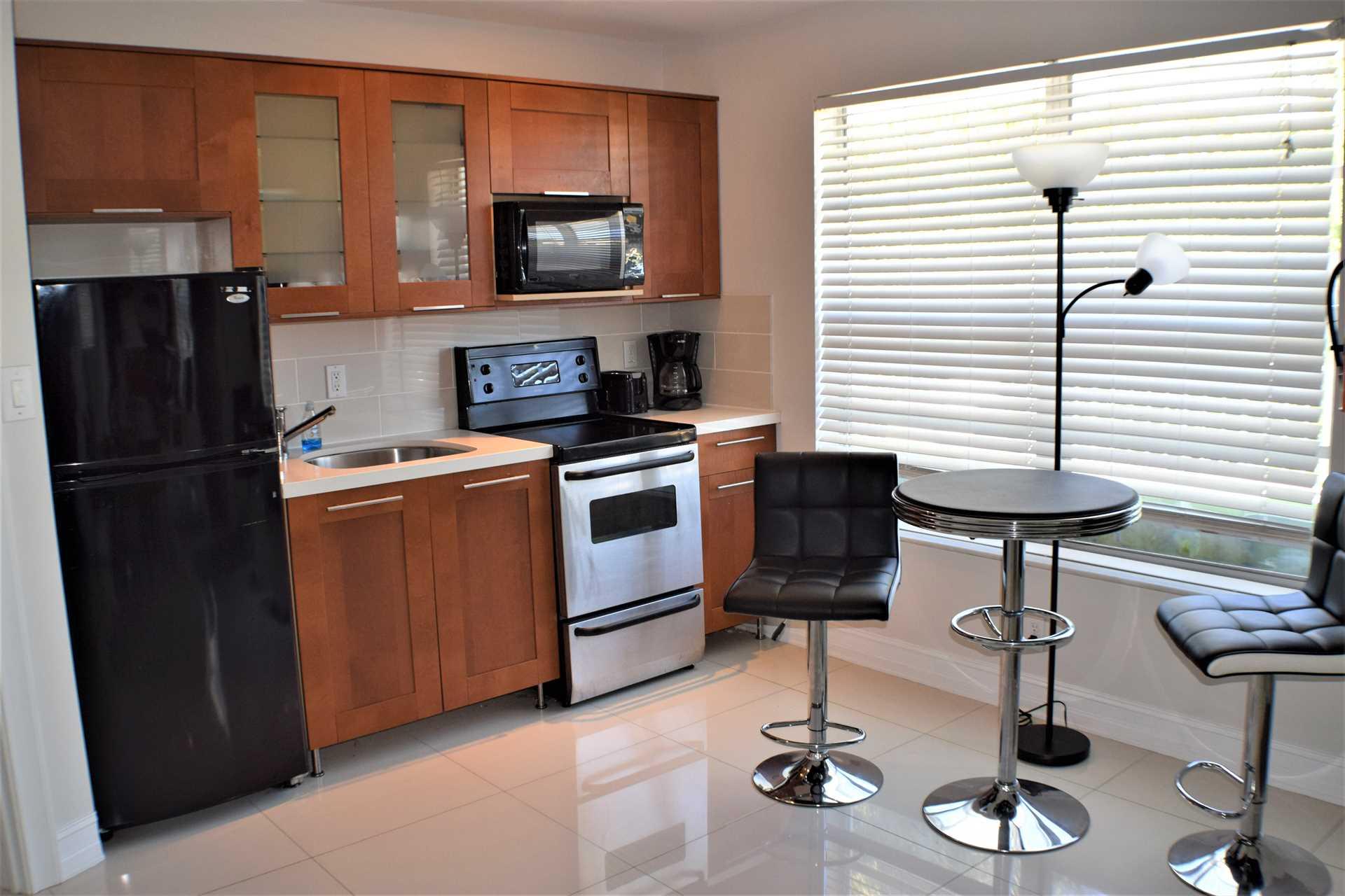Second floor also has bonus of efficiency type kitchen area