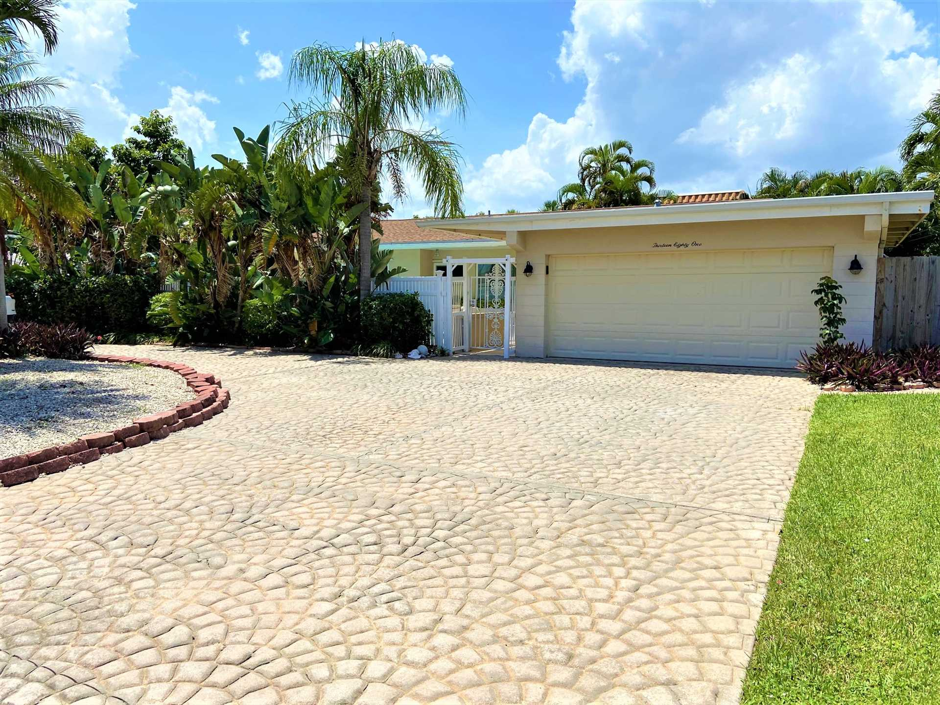 Beautiful home is located on an island along A-1-A midway be