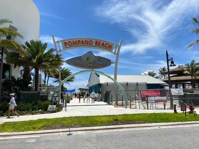 Take a walk on the newly opened Pompano Beach Pier.