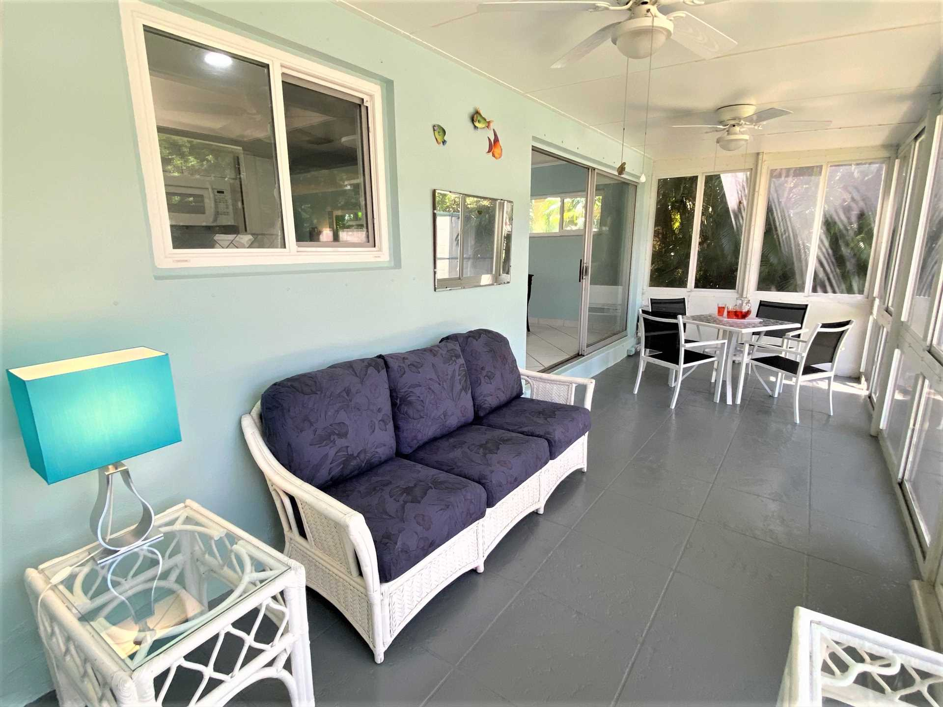 Lanai is air conditioned for your comfort.