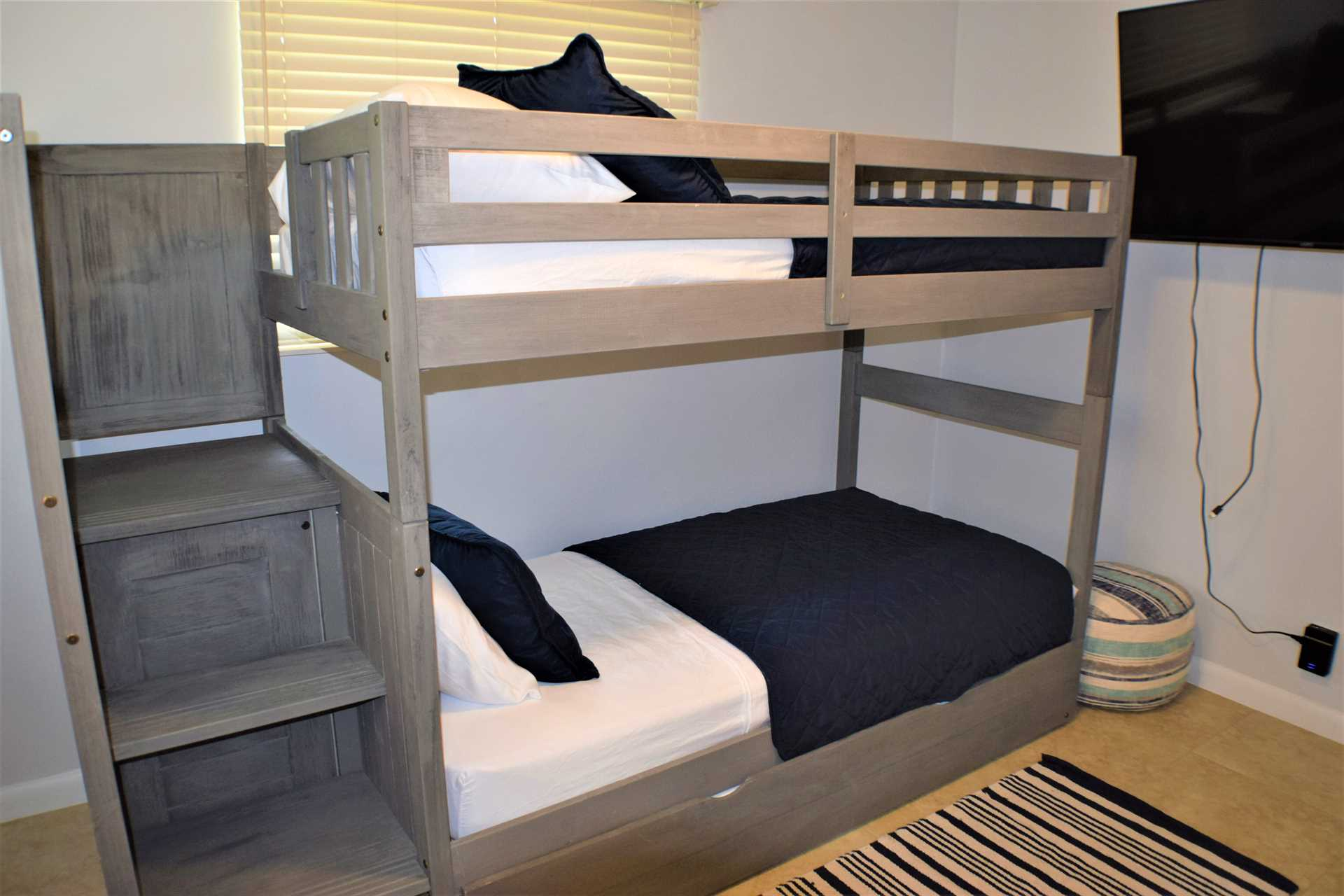 Fourth bedroom has bunk beds